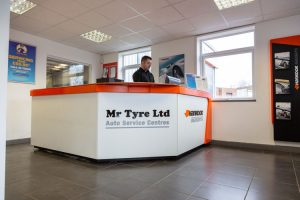 Mr Tyre Daventry Branch reception area